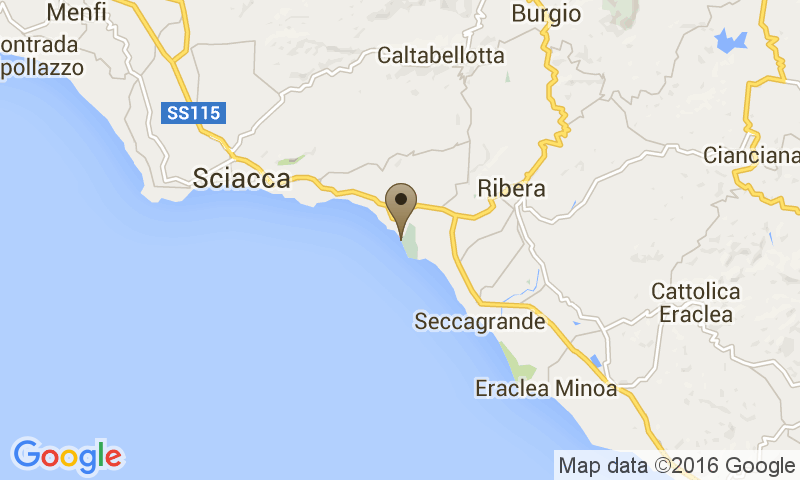 Google Map of S.S. 115, Km 131, 92019 - Agrigento, Italy