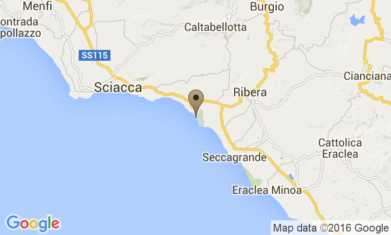 Google Map of S.S. 115, Km 131, 92019 - Agrigento, Italy