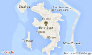 Google Map of Bora Bora, French Polinesia