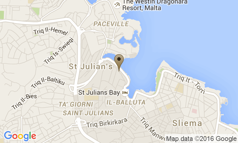 Google Map of Le Meridien Saint Julian's, Valletta, Malta