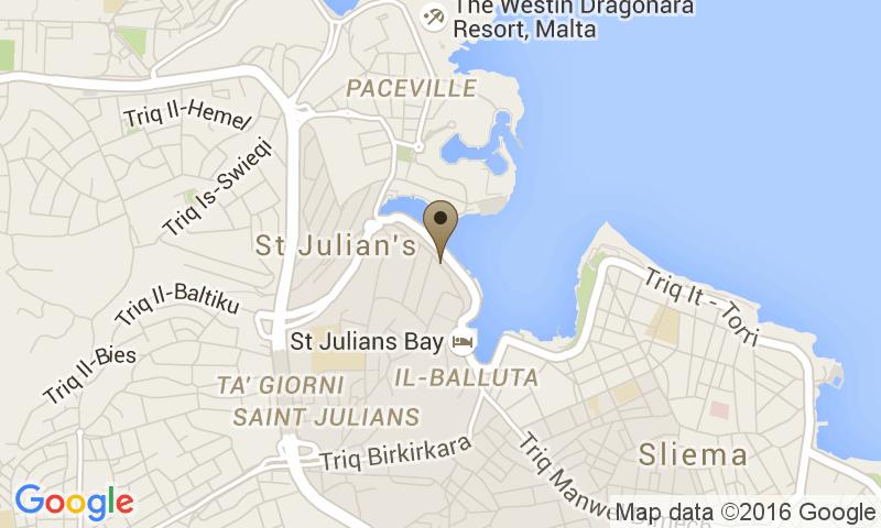 Google Map of Le Meridien Saint Julian's, Valletta, Malta