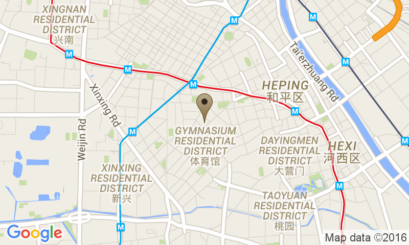 Google Map of 158 Zhangzizhong Rd, Heping, Tianjin, Cina